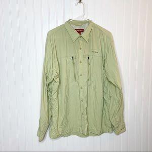 SIMMS Button Front Men's Outdoor Shirt Size Large